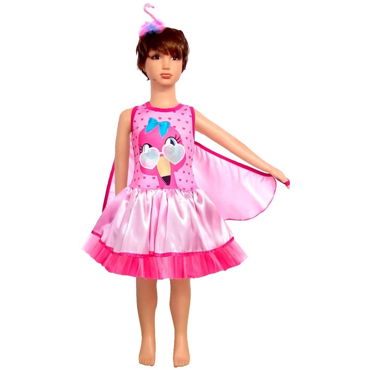 Fantasia De Carnaval Infantil Flamingo Com Oculos E Asas R 123 90 Em Mercado Livre