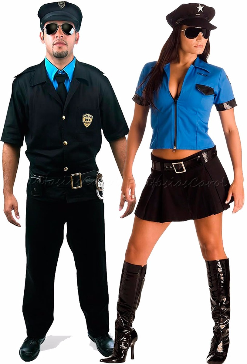 dc4679f9a6763 fantasia de casal policial masculino e feminino c  quepe. Carregando zoom.