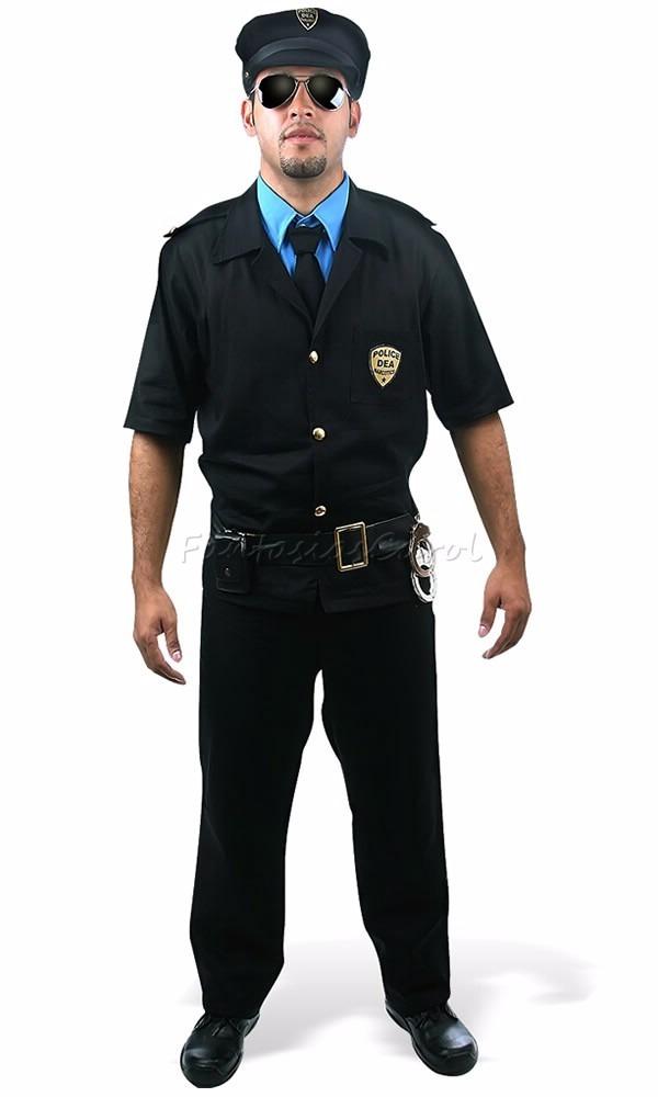 fantasia de casal policial masculino e feminino c  quepe. Carregando zoom. d0871fe8da8