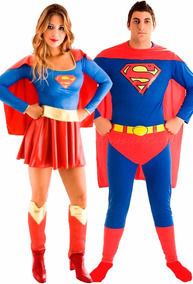 ded1986f948a3e Fantasia De Casal Super Homem/ Super Mulher Completa