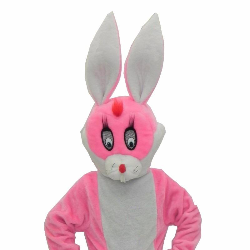 e83f2551a fantasia de coelho rosa - mascote cabeção roupa em pelúcia. Carregando zoom.