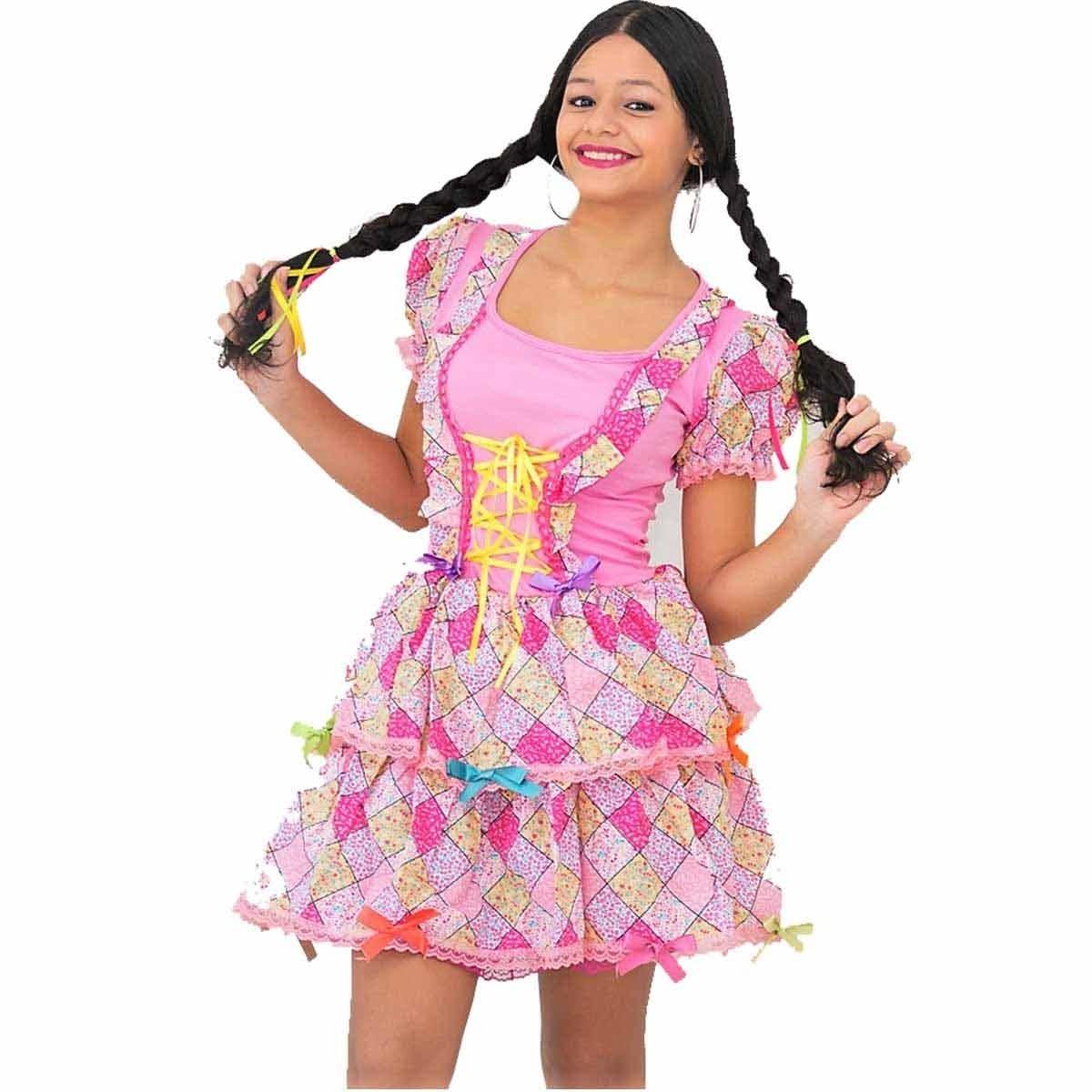 2f975cd9f fantasia de festa junina infantil vestido dani 2 a 12 anos. Carregando zoom.