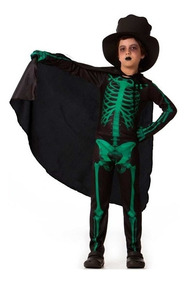 98a364b3fc1312 Fantasia De Esqueleto Infantil Masculino P/halloween P Ao Gg