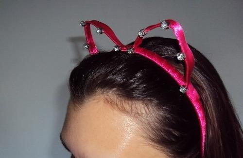 fantasia de mulher gato gatinha tiara e gravata rosa pink