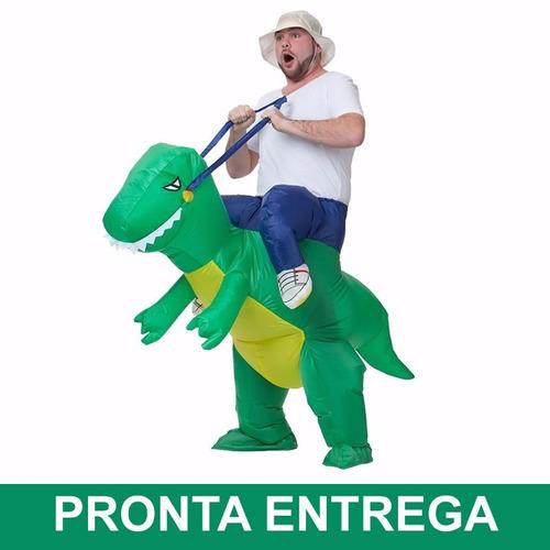 fantasia dinossauro inflável - sucesso para o carnaval 2018