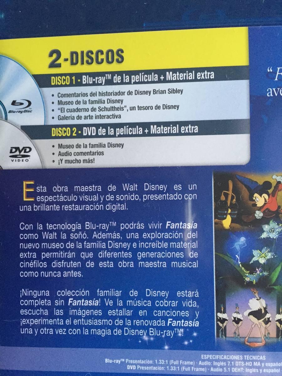Fantasia Disney Blu-ray Y Dvd Mickey Mouse Nuevo - $ 220.00 en ...