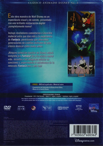 fantasia disney clasicos 3 pelicula dvd