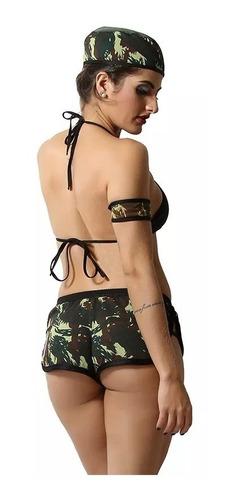 fantasia erótica feminina adulta cabo 69 militar + algemas