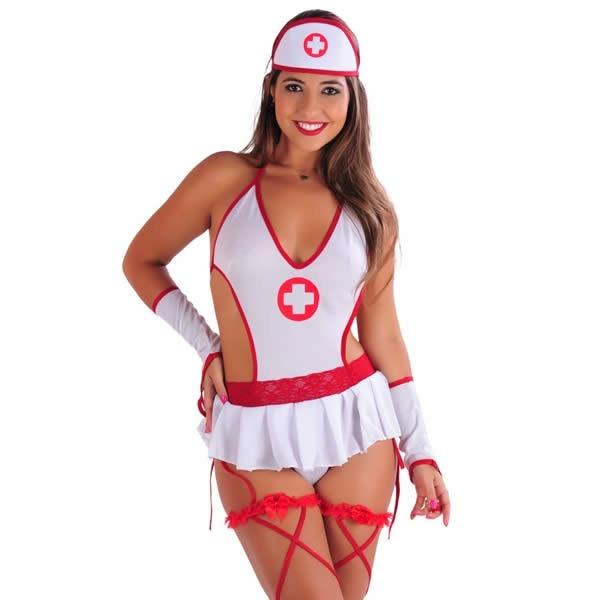 f5ced4a67 Fantasia Erótica Médica Enfermeira Body Sensual Feminino - R  95