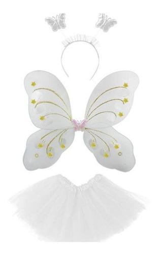 fantasia fadas infantil asa de borboleta tiara varinha