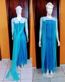 7f3c4dec741b8d Fantasia Feminina Adulto Princesa Elsa Frozen Frete Gratis