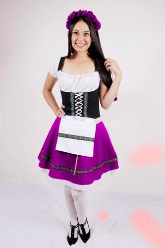 fantasia feminina alema vermelha oktoberfest pronta entrega