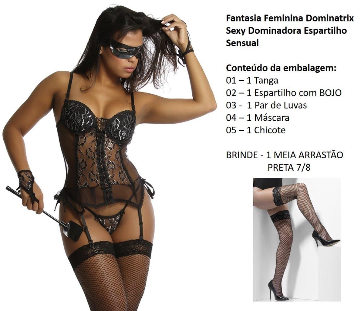 400b1d810 fantasia feminina dominadora sex espartilho sensual carnaval. Carregando  zoom.