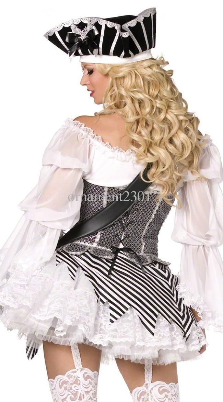 Fantasia vestido preto e branco