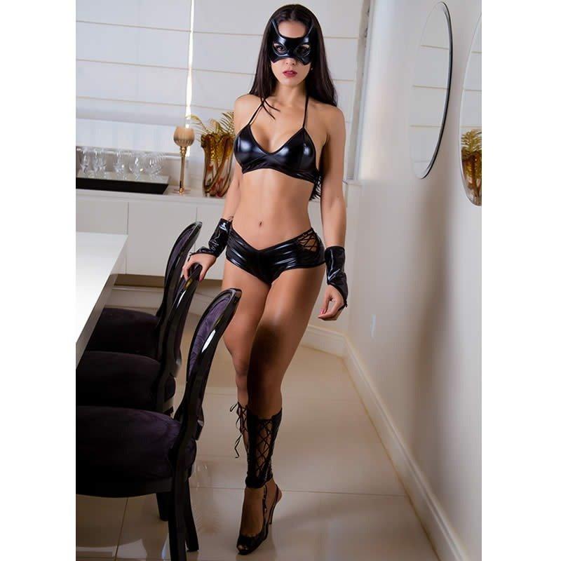 b2b782022 fantasia feminina sexy mulher gato short sensual erótica. Carregando zoom.