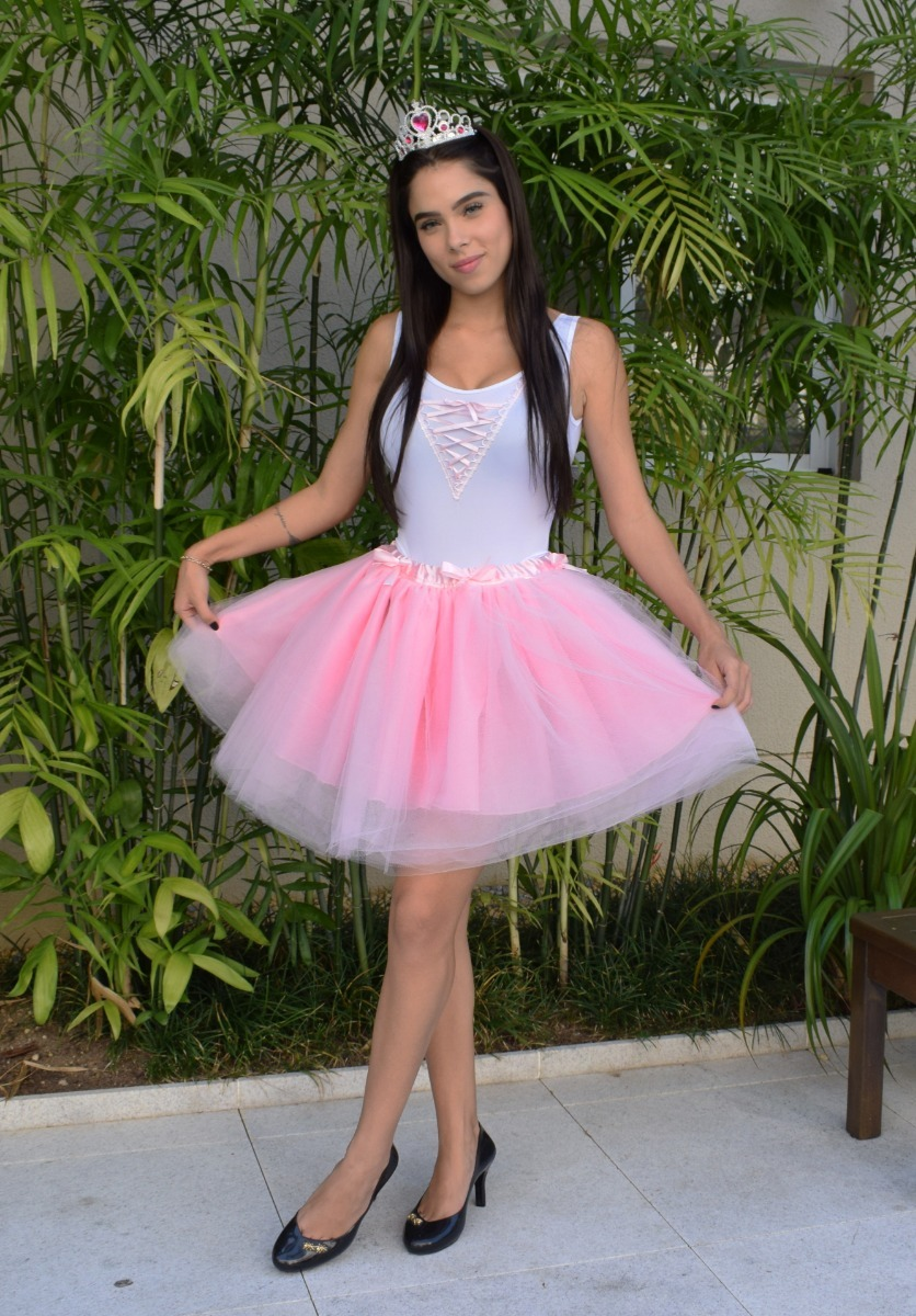 de49f5c76af2 fantasia festa boneca bailarina lol adulto saia tutu e body. Carregando  zoom.