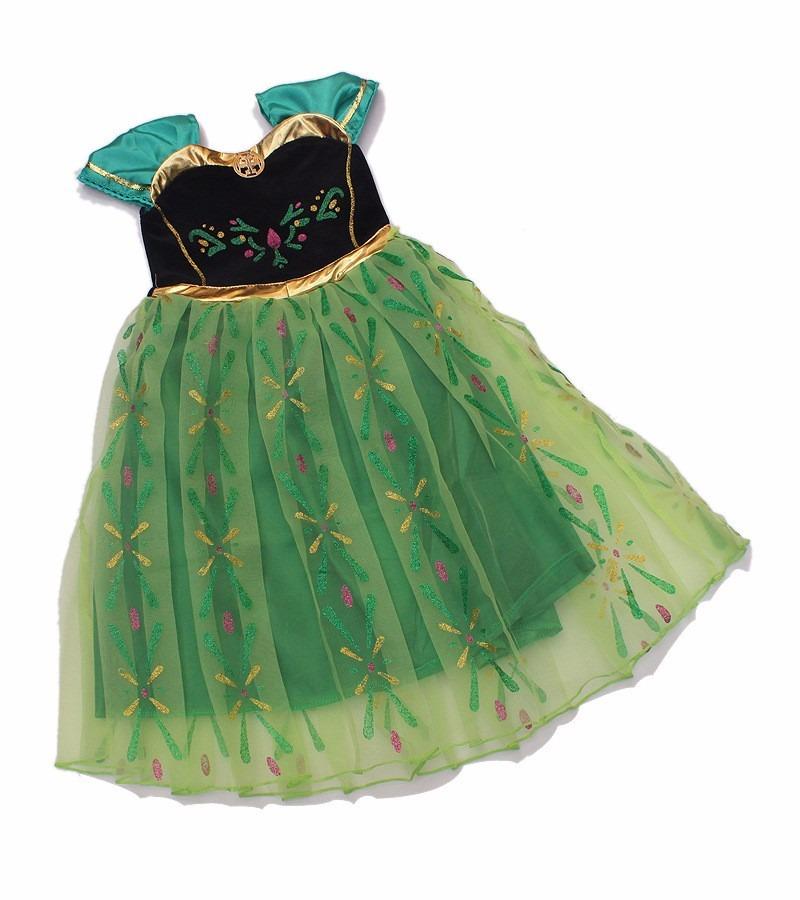 Vestido verde de ana de frozen