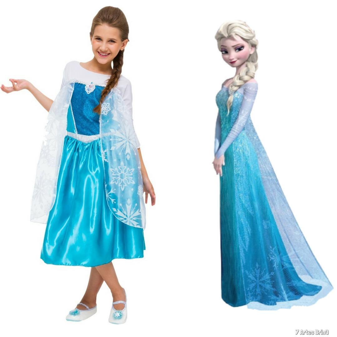 60bc7f1d886 fantasia frozen elsa vestido barato infantil princesa disney. Carregando  zoom.