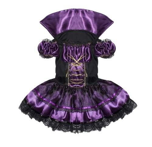fantasia halloween vampira luxo infantil - pronta entrega