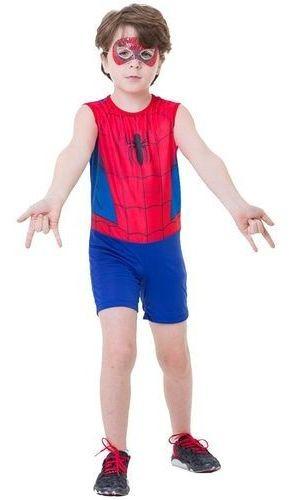 fantasia homem aranha curta clássico tamanho g rubies