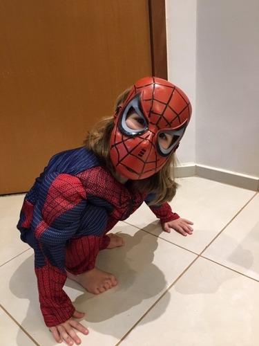fantasia homem aranha infantil unissex longo muscular
