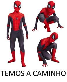 ad355864e57492 Fantasia Homem Aranha Longe De Casa Luxo Infantil