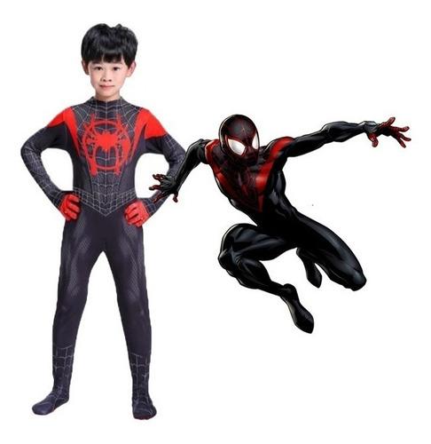 fantasia homem-aranha miles morales aranhaverso traje negro