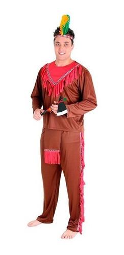 fantasia índio americano adulto completa envio em 24 hrs