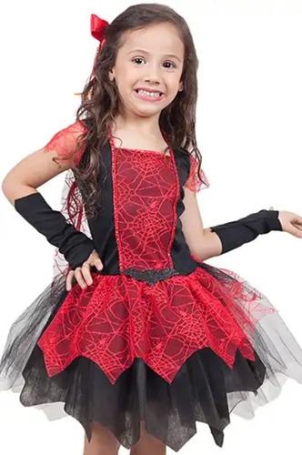 fantasia infantil halloween vampira luxo festa das bruxas
