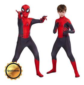 ceec63b3ef44b2 Fantasia Infantil Homem Aranha Longe De Casa Spider Cosplay