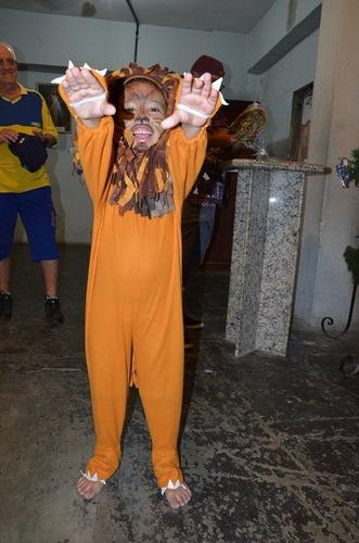 fantasia infantil leão com juba tamanho 4 anos r$44 com juba