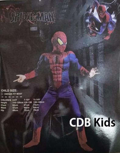 fantasia infantil luxo homem aranha com músculos
