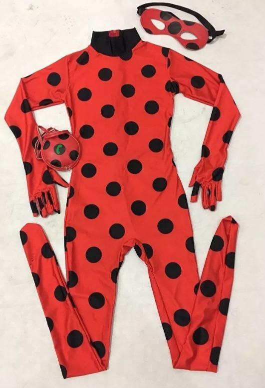 09500ed74f56cd Fantasia Infantil Macacão Lady Bug Miraculous - Em Estoque