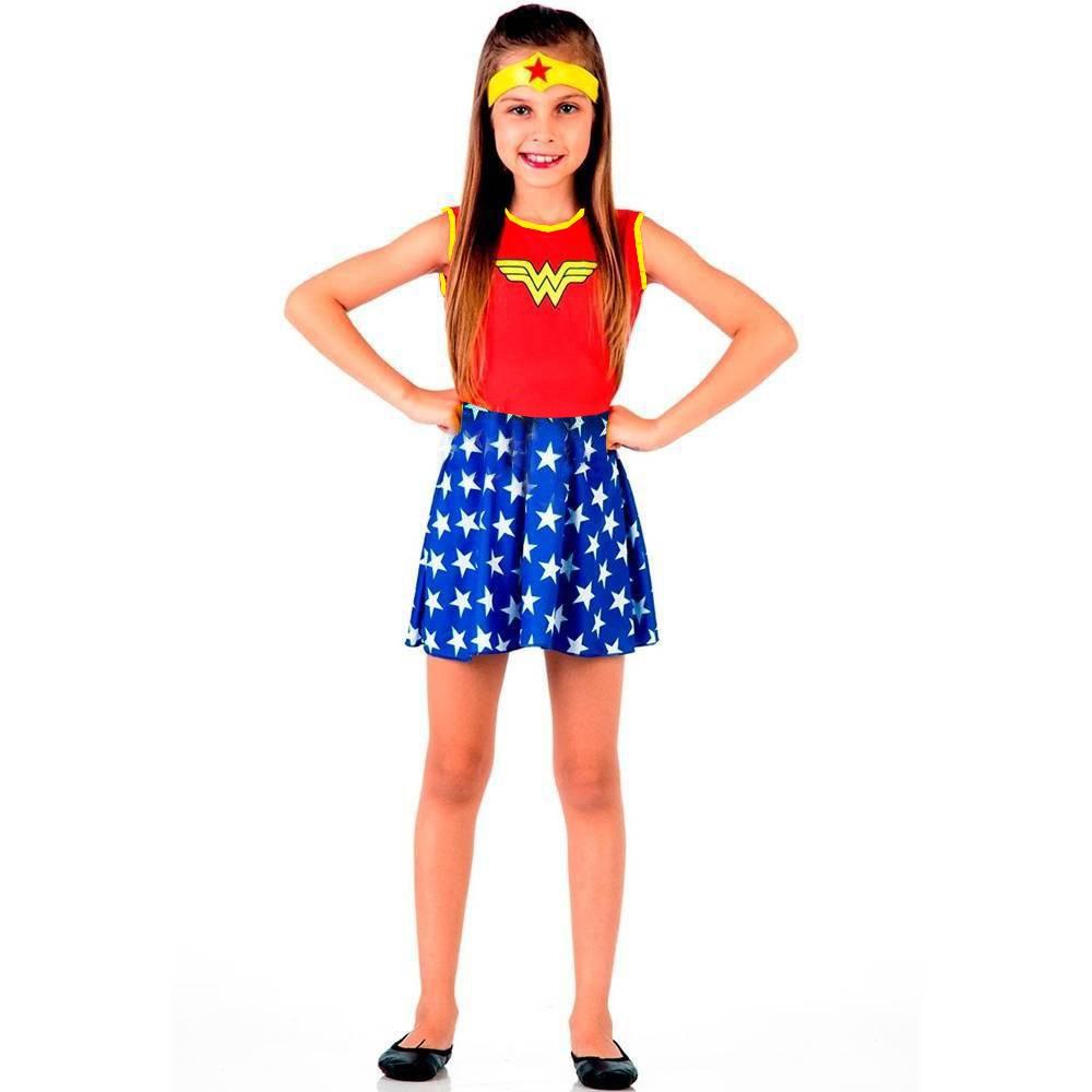 Fantasia Infantil Mulher Maravilha 1a9 Anos Dia Das Crianças R 64
