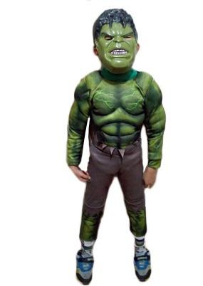 fantasia infantil o incrivel hulk huck hulck +mascara de led