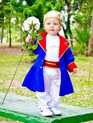 fantasia infantil original pequeno principe-completa luxo.