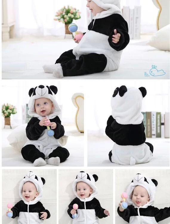 498f91d7a9c99c Fantasia Infantil Panda Criança Macacão De Bebê Menino Unise