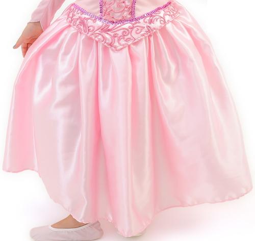 fantasia infantil princesa bela adormecida luxo frete grátis