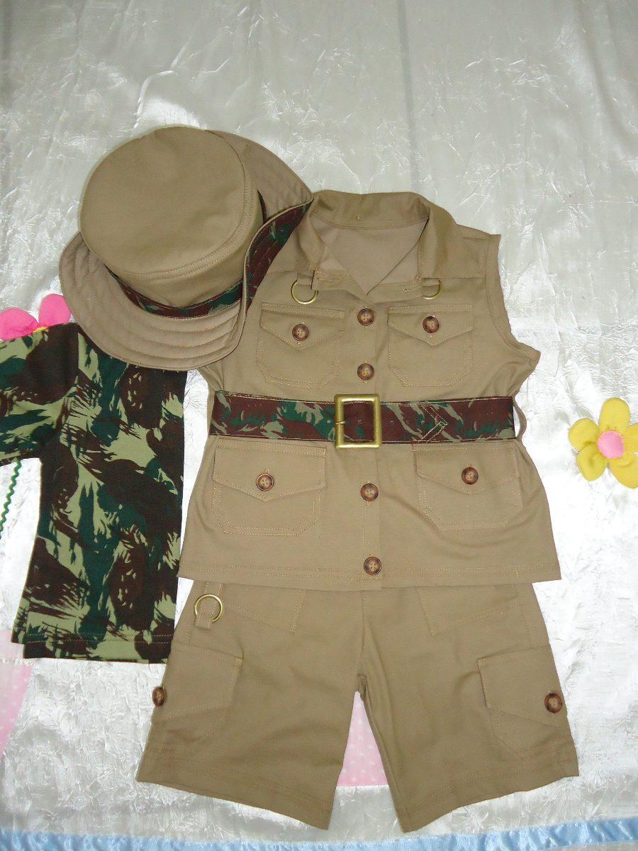 Colete Safari ~ Fantasia Infantil Safari R$ 186,00 em Mercado Livre