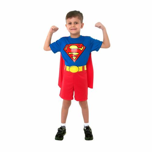 fantasia infantil super-homem pop tamanho m - bonellihq