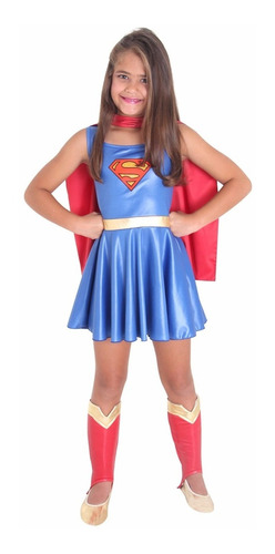 fantasia infantil super-mulher p sulamericana - bonellihq