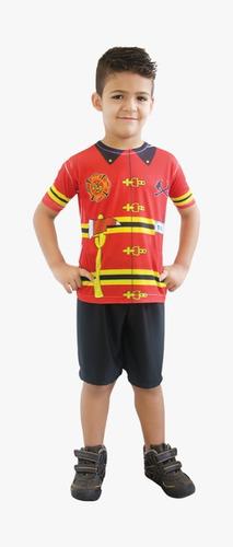 fantasia infantil tam. m bombeiro vermelho 1064 brink model