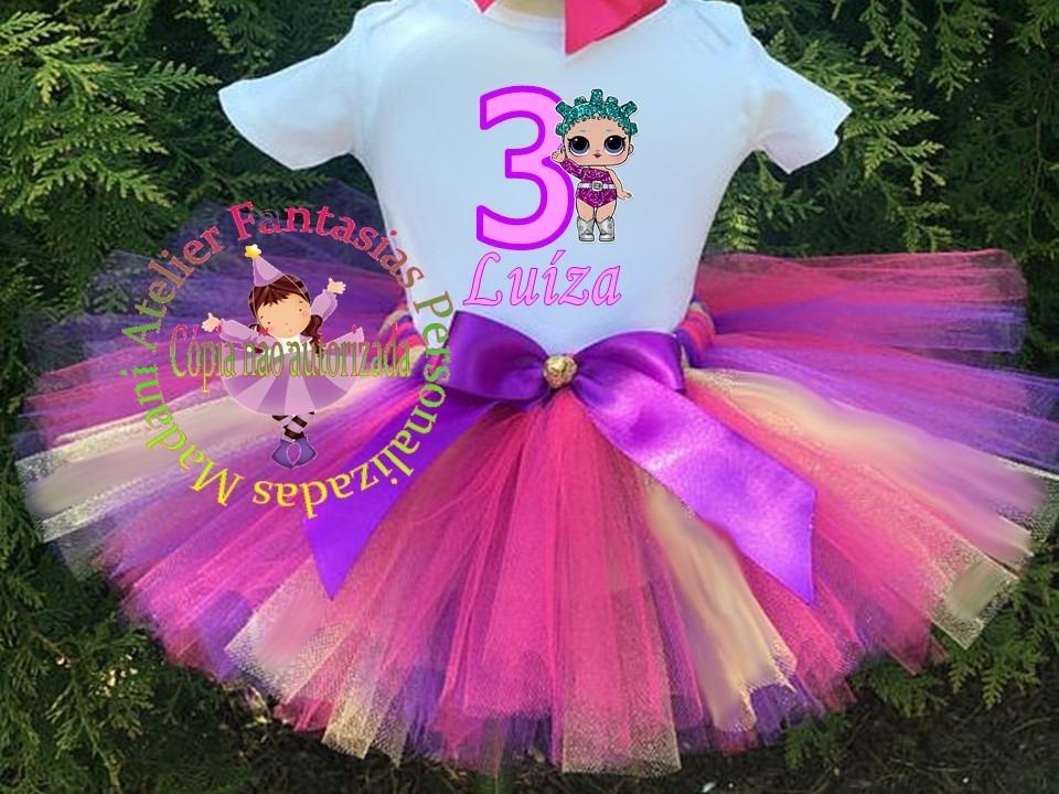 903a990661 Fantasia Infantil Tutu Lol Surprise Rosas Luxo 1 Ao 8 - R$ 98,15 em ...