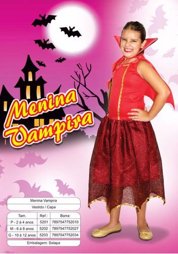 fantasia infantil vampira sidnyl carnaval *