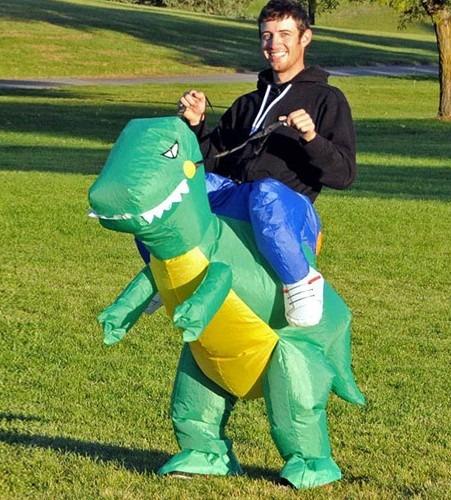 fantasia inflavel dinossauro adulto pronta entrega