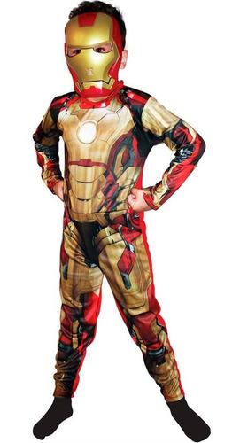 fantasia iron man 3 homem de ferro 3 luxo músculos e máscara