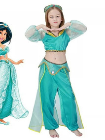 774a2f5f50 Fantasia Infantil Princesa Jasmine Aladim no Mercado Livre Brasil