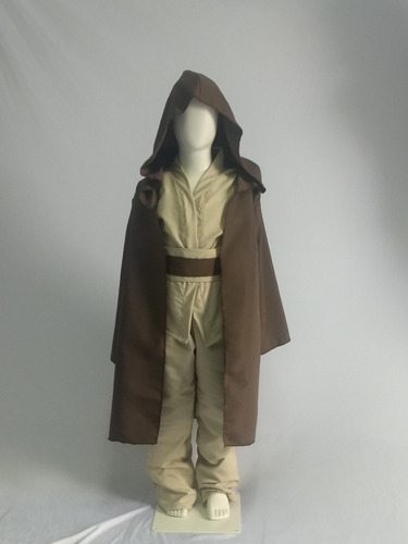 fantasia jedi com a capa cosplay infantil star wars