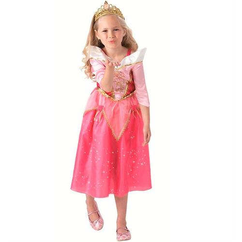fantasia longa aurora princesa disney rosa bela adormecida