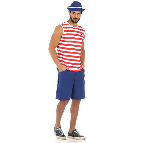 fantasia marinheiro regata verão adulto